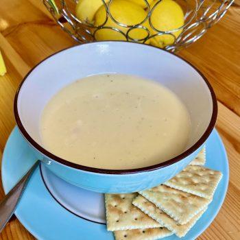 lemon rice soup